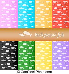 Background fish , vector illustration