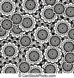 Background flower black and white
