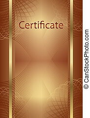 certificate - background for a certificate