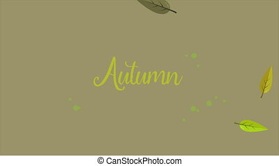 Background for autumn day animation