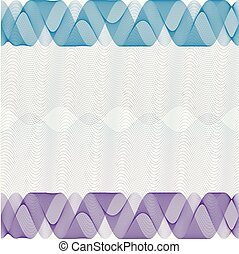 Background for certificate, voucher, note, guilloche pattern,