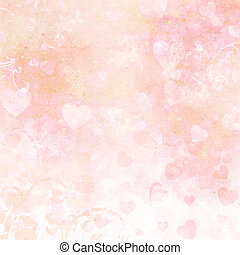 Background for congratulation card with hearts