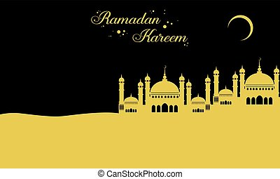 Background for greeting card Ramadan Kareem