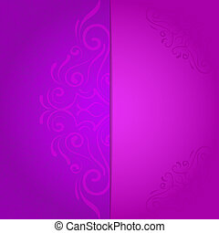 background for invitation with violet floral pattern