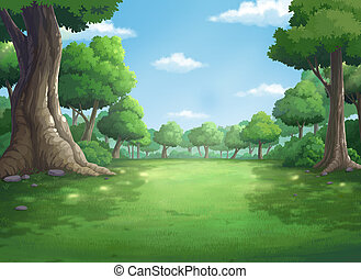 background for jungle and natural at daytime. - illustration...