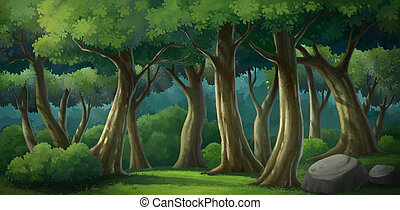background for jungle and natural - Illustration of an...