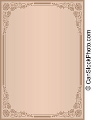 background for menu with frame rose