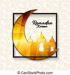 Background for Muslim Community Festival Ramadan Kareem. Eid...