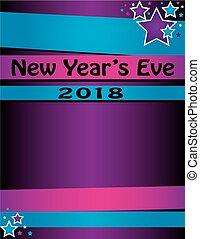 Background for New Year's Eve party ringing in 2018