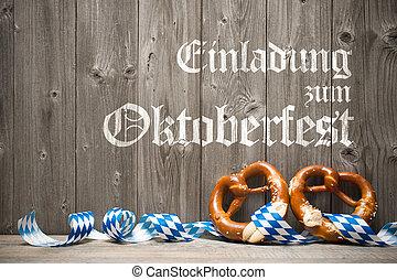 Background for Oktoberfest - Oktoberfest german beer...