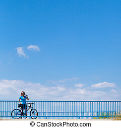 Background for poster or advertisment pertaining to cycling/...