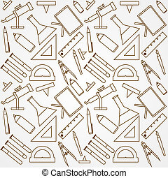 Background for school - Pattern with school supplies on...