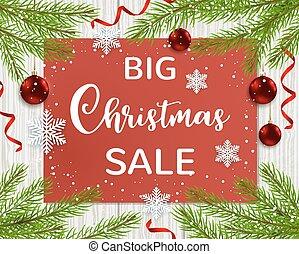 Background for seasonal Christmas sale.
