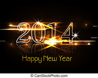 Background for shiny New year 2014 colorful celebration card...
