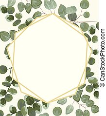 background for text from eucalyptus. gray and green...