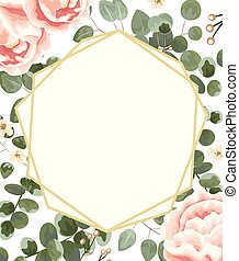 background for text from pink peonies, Jasmine, gray and...
