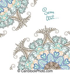 Background for text with floral ornament