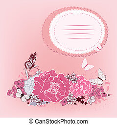 background for the design of flowers
