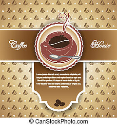 background for the menu with a cup
