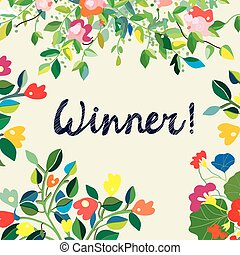 Background for the winner certificate with floral background...