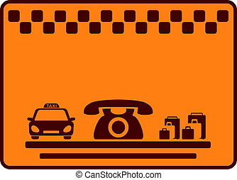 background for visiting taxi card