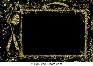 Background for writing Christmas menu - Background for...