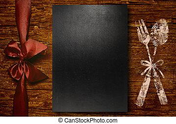 Background for writing menu, freehand drawing of menu symbol...