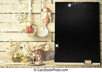 Background for writing the Christmas menu or greetings,...