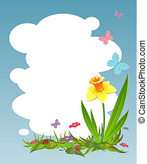 Background for your text with daffodil