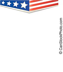 background-frame, amerikan flagga