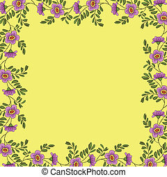 Background, frame of flowers
