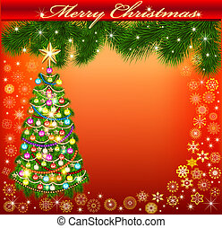 background frame with a Christmas tree