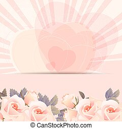 Background frame with bunch of rose