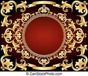 background frame with gold with vintage ornament
