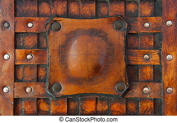 Background from a genuine leather structure, the ancient book