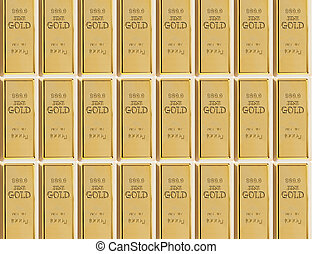 sample of 999 gold bars - background from a sample of 999...
