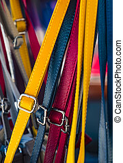 Background from a variety of colored belts