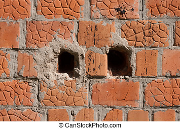 Background from an old brick wall