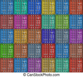 Background from cargo containers - Background from color...