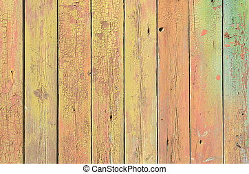 Background from colored wooden boards with texture