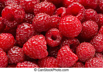 Background from damp berries of raspberry - Background from...