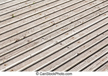 background from diagonal planks with rusty nails