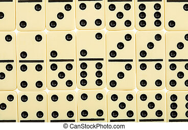 Background from dominoes - Background from white spotted ...