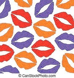 Background from feminine lips
