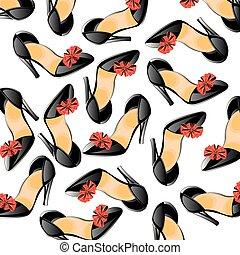 Background from feminine loafer