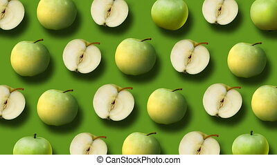 Background from fresh apples - Colorful fruit pattern of...