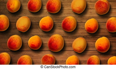 Background from fresh apricots - Top view of the ripe fresh...