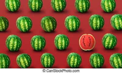 Background from fresh watermelons - Colorful fruit pattern...