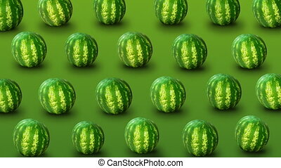 Background from fresh watermelons - Fresh watermelons on...