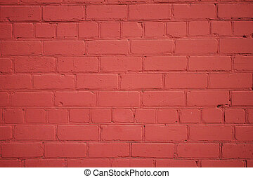 Freshly Painted Old Brick Wall